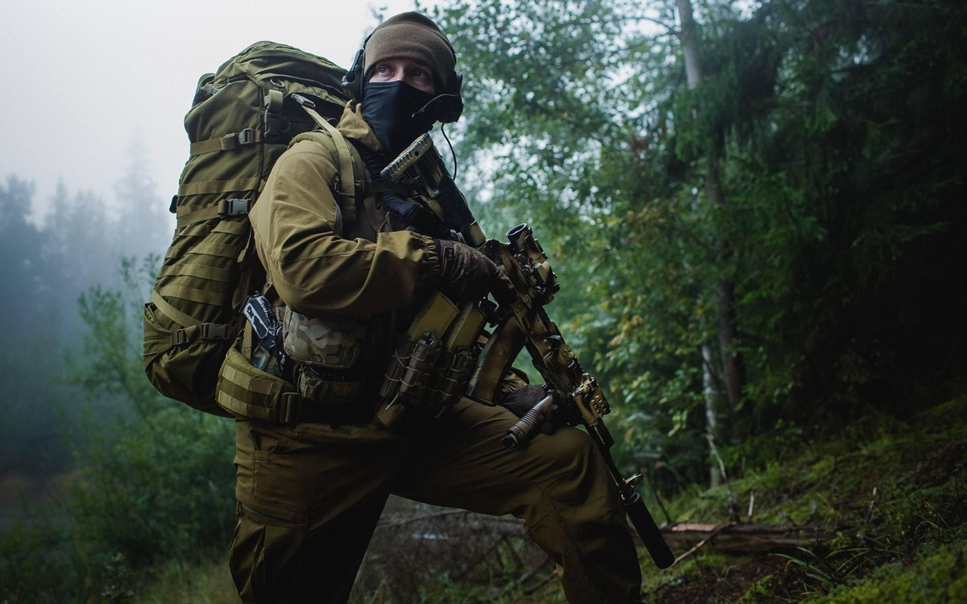 Des commandos et forces spéciales, inclus dans la brigade des commandos de lArmée nationale.